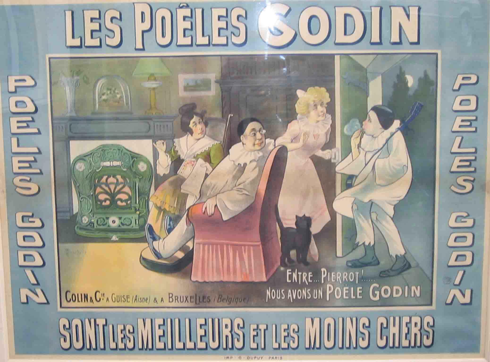 Les affiches du temps passé quand la pub s'appelait réclame .. - Page 22 Godin_affiche
